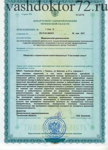 Разрешительный документ гарантирующий качество медицинской помощи.